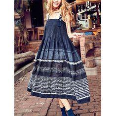 Women Stripe Spaghetti Strap Pocket Vintage Dresses Online - NewChic Mobile