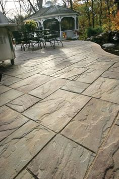 Unilock patio with Rivenstone paver