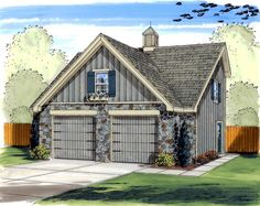 Learn about the Edlor Cape Cod Garage from House Plans and More and see the information you need to buy and construct Plan 2 Car Garage Plans, Garage Plans With Loft, Garage Loft, Garage Apartment Plans, Garage Apartments, Garage Ideas, Barn Garage, Dream Garage, House Plans And More