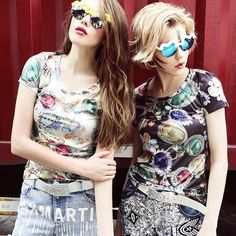 2015 European bump color printing T-shirt fashion street , taobao price US$45.61, click the photo to buy this item through taobao agent