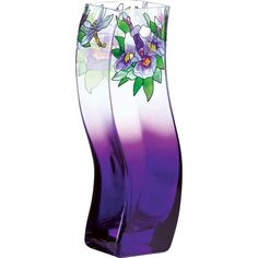 purple vases | Vase-VWB1008-Purple Irises - Purple Irises