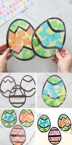 Easter Suncatchers - such a fun and easy Easter craft for kids! Make your own beautiful suncatchers. Free printable Easter egg templates on the post. day crafts for kids easy Easter Suncatchers Easter Crafts For Kids, Fun Crafts, Easter Decor, Easter Centerpiece, Paper Crafts, Canvas Crafts, Nature Crafts, Creative Crafts, Preschool Crafts