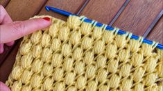Puff Stitch Crochet, Tunisian Crochet, Crochet Stitches, Knit Crochet, Baby Knitting Patterns, Crochet Patterns, Yarn Over, Diy Projects, Make It Yourself