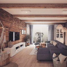 Home Inspiration // Loft Interior The Perfect Scandinavian Style Home Home Design Decor, Home Interior Design, House Design, Interior Shop, Interior Livingroom, Bohemian Interior, Interior Plants, Interior Styling, Home Living Room