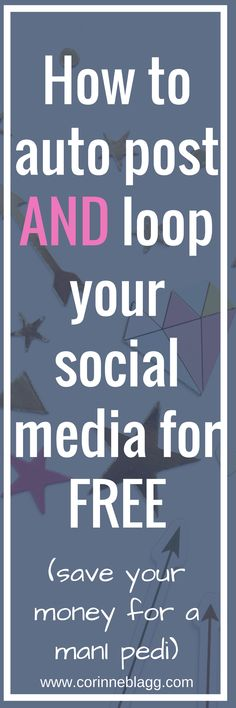 schedule and loop your social media posts for free. Grab your free workbook