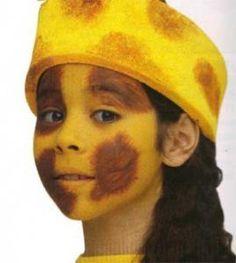 La jirafa - Manualidades para niños - Manualidades para cada fiesta del año - Manualidades infantiles CARNAVAL - Maquillajes de CARNAVAL
