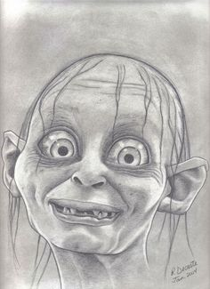 how to draw smeagol easy