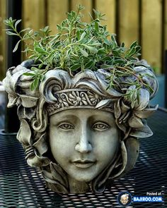 22 Pictures of Funny Head Flower Pots- I want this pot!