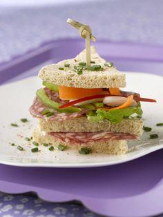 Club sandwich revisité à la rosette par Sophie Lattron - une...