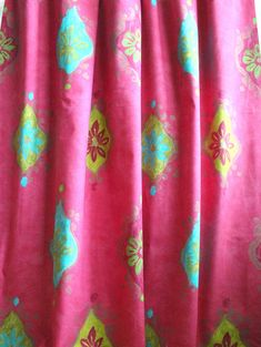 Designers Guild Kinsho Fuschia cotton printed fabric in a modern interpretation of an Ikat design. This fabric is suitable for home decor project.  The price is for a 1.5 yard piece Using fabric with texture, pattern and colour elevates an ordinary design into a great design, one that