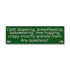 I have to swap co-sleeping with cloth diapering...