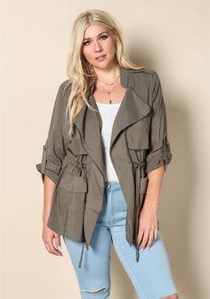 Plus Size Clothing | Plus Size Light Utility Jacket | Debshops