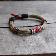 Linen bracelet - organic jewelry - sports jewelry for her - nature bracelet - natural material - bracelet ecofriend - 2014 trend