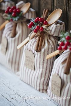 A cute sack to give homemade cookies instead of a store-bought can.  Ozark Mountain Family Homestead