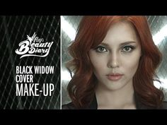 Pony's Beauty Diary - Black Widow Cover Makeup (with subs) 스칼렛 요한슨 메이크업 Cosplay Black Widow, Black Widow Makeup, Black Widow Costume, Chanel Makeup, Fx Makeup, Cosplay Makeup, Costume Makeup, Black Widow Superhero, Black Widow Avengers
