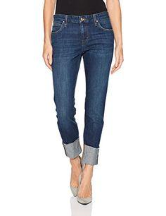 "Women's Smith Markie 4"" Cuff Hem Midrise Straight Crop Jean"