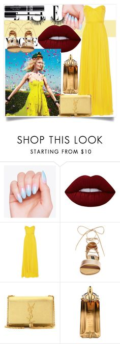 """♥ Happy Day in Rio's Carnaval ♥"" by clo-23 ❤ liked on Polyvore featuring Lime Crime, Jenny Packham, Steve Madden, Yves Saint Laurent, Thierry Mugler and Christian Dior"