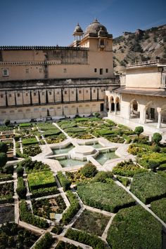 Amber Fort Courtyard Garden, Rajasthan, India