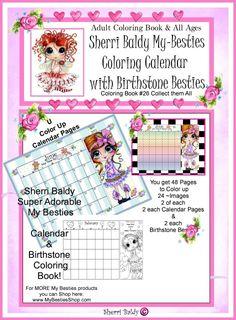 Sherri Baldy My Besties Tea Time Coloring Book By Sherri