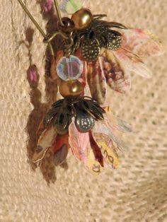 Petit flowers by freerangeart on Etsy Lucite Flower Earrings, Warm Colors, Fresh Water, Jewelry Crafts, Bloom, Delicate, Pearls, Crystals, Flowers