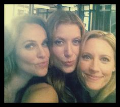 Amy Brenneman, Kate Walsh, and KaDee Strickland on the first day back on the of set Private Practice Season 6