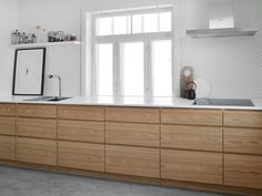 Home The New Angle On Customized Kitchen Cabinets In Smoked Oak Just Released 59 - neweradecor V Home Decor Kitchen, Kitchen Furniture, Kitchen Interior, New Kitchen, Interior Design Living Room, Home Kitchens, Kitchen Dining, Kitchen Cabinets, Furniture Stores