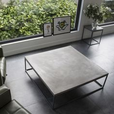 Add a dash of industrial chic to the home with this Perspective coffee table from Lyon Beton. Available in two sizes, this statement coffee table has a base of shining steel topped with a single concr Contemporary Coffee Table, Modern Table, Contemporary Furniture, Concrete Table Top, Beton Design, Industrial Style Coffee Table, Coffee Table Design, Industrial Chic, Industrial Furniture