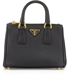 #Prada Saffiano Mini Galleria Crossbody Bag, Black #bag