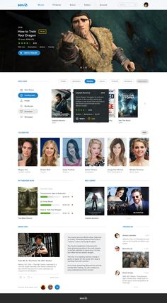 Movie UI - by Levani Ambokadze Design Web, Web Design Studio, Web Layout, Layout Design, Interactive Web Design, Best Website Design, Webdesign Layouts, Web Project, Landing Page Design