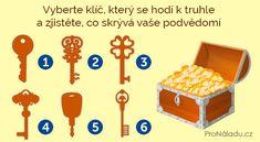 Vyberte klíč, který se hodí k truhle a zjistěte, co skrývá vaše podvědomí | ProNáladu.cz