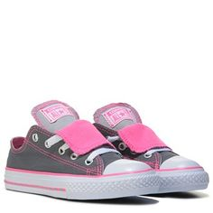 Converse Chuck Taylor All Star Double Tongue Low Top Sneaker Grey/Neon Pink