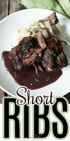 Sous vide short ribs are well worth the 48 hours it takes to cook them to fall-apart perfection. The bone-in short rib cut will give you all the traditional braised short rib flavors in this hands off cooking technique. Red Wine Reduction, Short Ribs, Recipes For Beginners, Sous Vide, Falling Apart, Hands, Traditional, Cooking, Kitchen