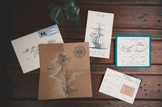 Vintage Nautical Wedding Stationery / Bit of Ivory Photography / Fab You Bliss