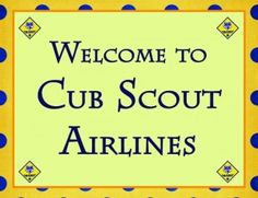 Soaring Themed Cub Scout Pack Night with paper planes