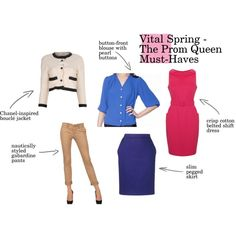 """""""Vital Spring Must-Haves - The Prom Queen"""" by goldkehlchen on Polyvore"""