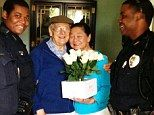 Officers Grigsby & Dilliard found Melvyn Amrine a few blocks away from his home after his wife called frantically looking for him. He has Alzheimer's and forgot where he lived but knew he was on a mission to buy his wife flowers for Mother's Day. The officers took him home but not before stopping and helping him buy the flowers, even using their own cash when he didn't have enough ♥...