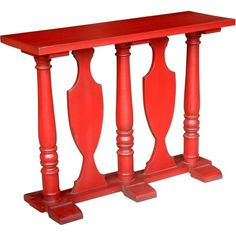 I pinned this Cameo Console Table in Antique Red from the Jeffan event at Joss and Main!