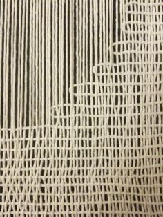 Day 267 woven wall hanging tapestry wool string by Saskia Saunders