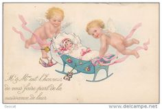 Postkaarten> Thema's> Wensen in Feesten> Geboorte - Delcampe.net
