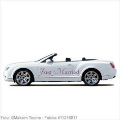 Autoaufkleber Hochzeit - Just Married -T08