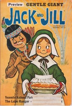 Vintage Thanksgiving Jack and Jill magazine cover