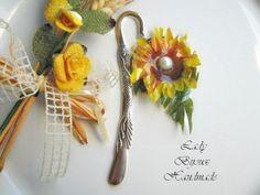 Segnalibro in metallo con fiore Girasole di Lady Bijoux Handmade su DaWanda.com