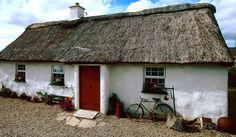 Thatched cottage at Bloody Foreland, Donegal