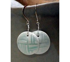 Abstract Quarters - Porcelain Earrings  $34.99