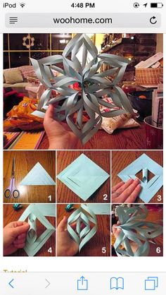 3d paper snowflakes Very easy Diy Christmas decorations