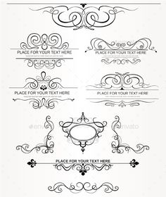 Set of vector calligraphic design elements and page decoration. You can recombine the elements and get another unique ornament. These elements will look great on wedding invitations, luxury related prints or vintage style projects.