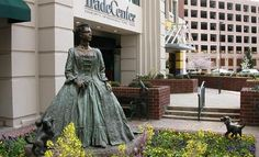 I like this statue of the Queen Charlotte, wife of King George III  that the city was named after..it combines history and public art..it's located downtown