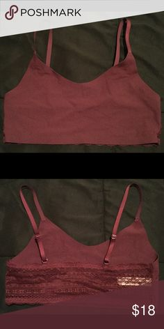 NEW Victoria's Secret Bralette Victoria's Secret bralette, maroon/wine color. Lace back. Size L Victoria's Secret Intimates & Sleepwear Bras