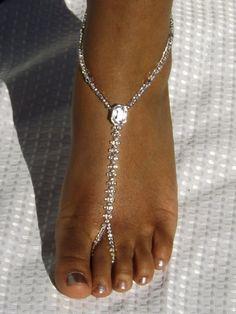 Sandalo a piedi nudi piedi gioielli cavigliera damigelle