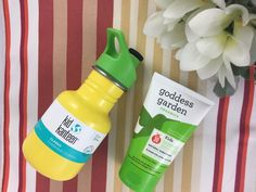 Keep kids protected and hydrated this summer with Garden Goddess Organics Kids SPF 30 free of chemical sunscreens and a bright stainless steel Kid Kanteen free of BPA and toxins, won't shatter or rust and is easy to clean!